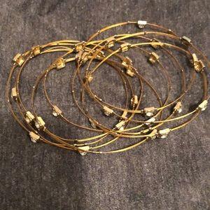 Multiple Bracelets - with Rhinestones